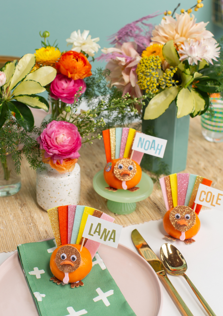 A DIY Turkey Place Setting For Kids... / via Oh Joy!