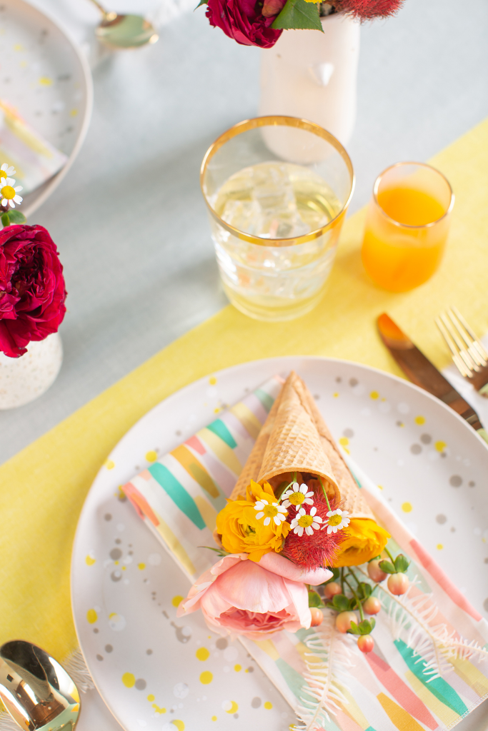 How to Make a Mini Cone-a-Copia Place Setting / Oh Joy!