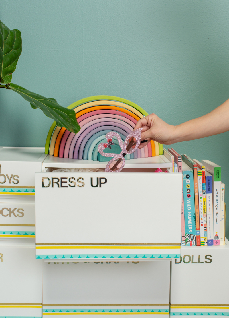 A Clever Way to Store Toys / via Oh Joy!