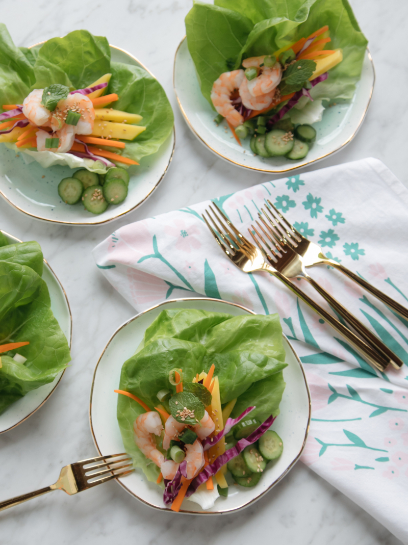 Recipe for Spring Roll Salad / via Oh Joy!
