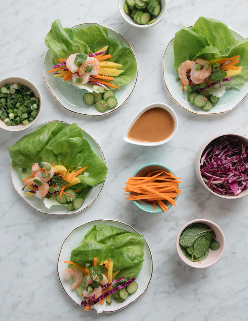 Recipe for Spring Roll Lettuce Wraps / via Oh Joy!