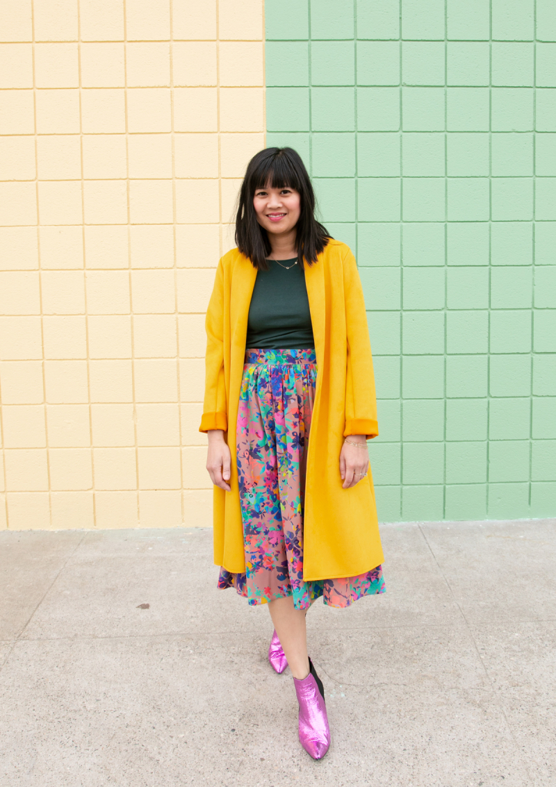 Color Adventures: Oh Joy! Wears Warm Tonal Outfits...