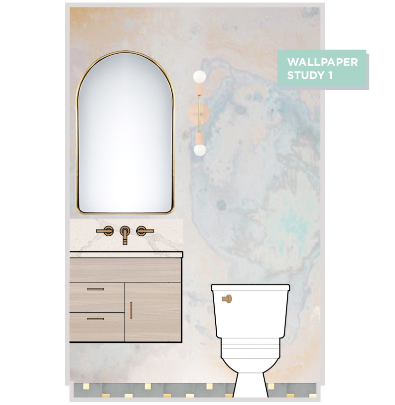 Oh Joy! Builds A House: Vintage-Inspired Powder Room! / Wallpaper Study 1