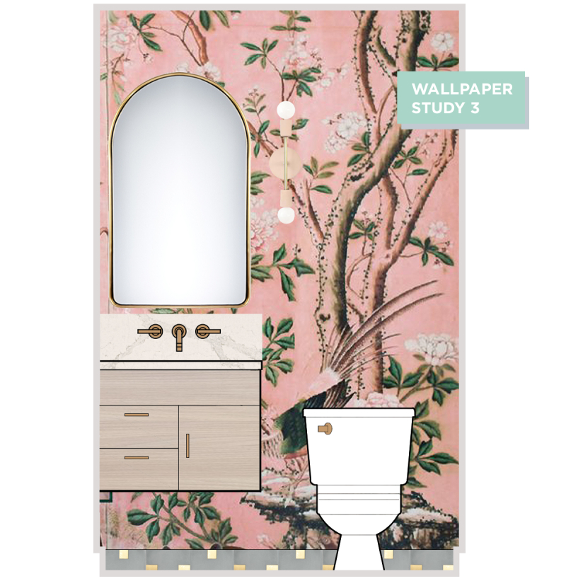 Oh Joy! Builds A House: Vintage-Inspired Powder Room! / Wallpaper Study 3
