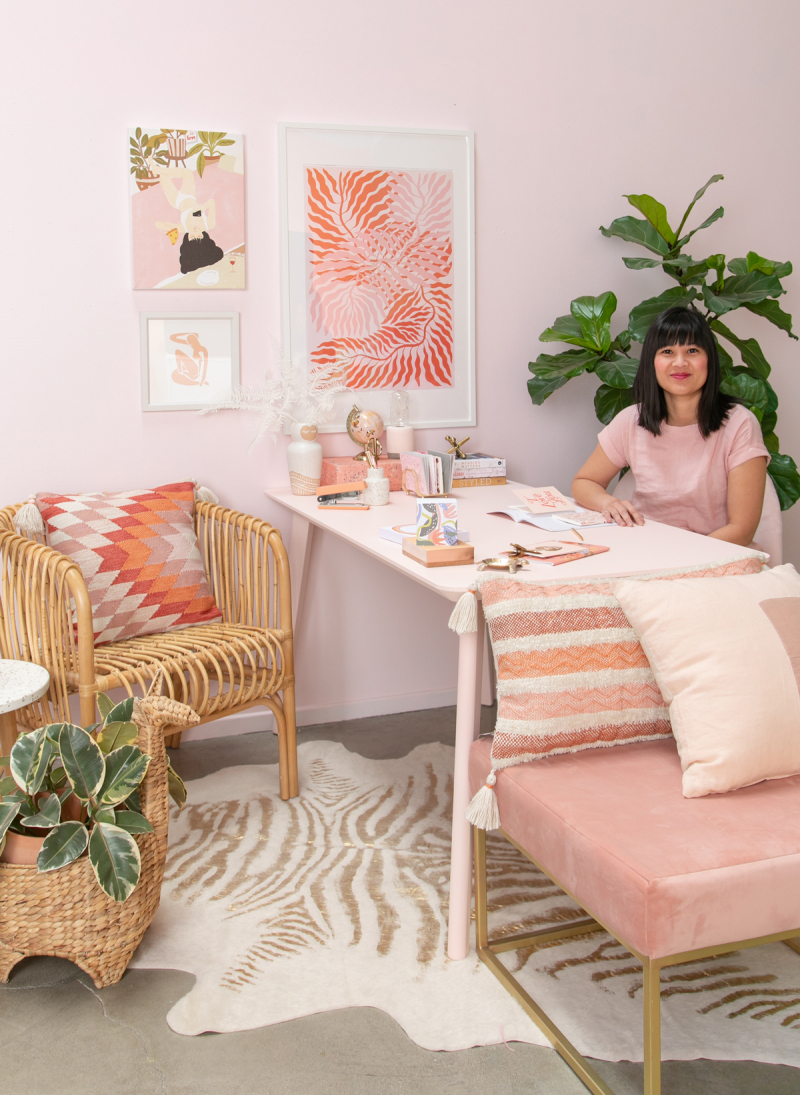 A Blush and Coral Office... / via Oh Joy!