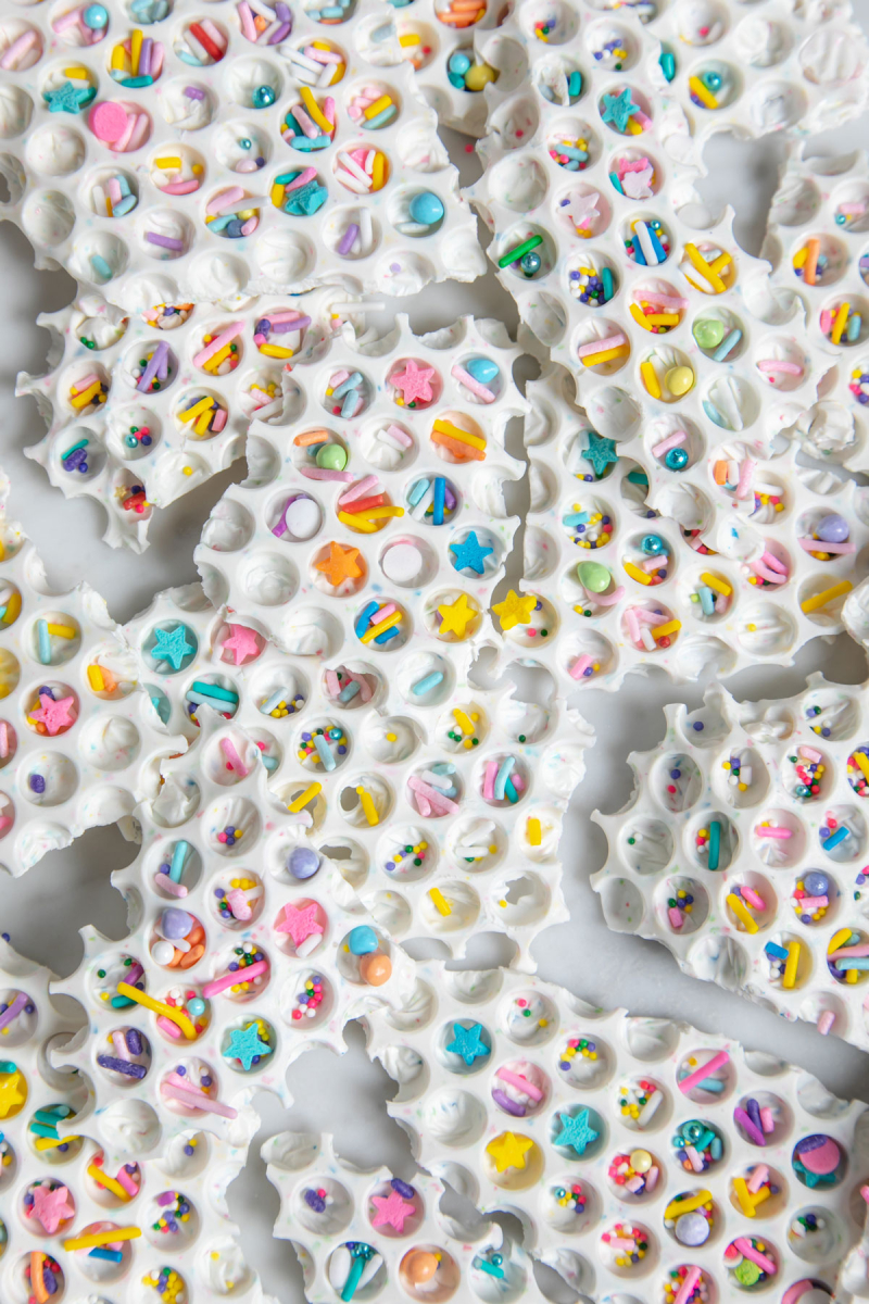 bubble wrap confetti bark / oh joy!