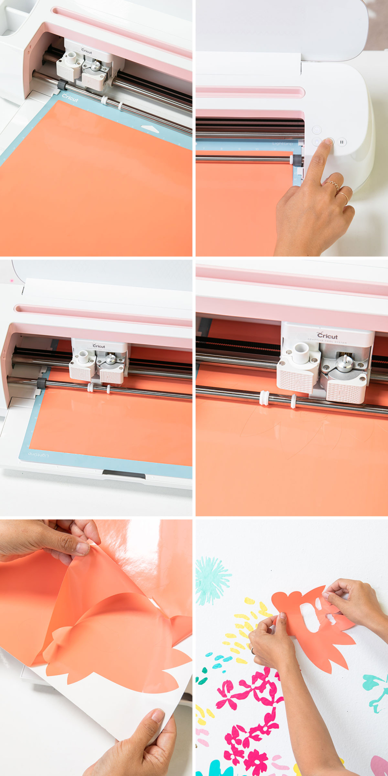 A DIY Floral headboard... // Step-by-step instructions / via Oh Joy! in partnership with Cricut