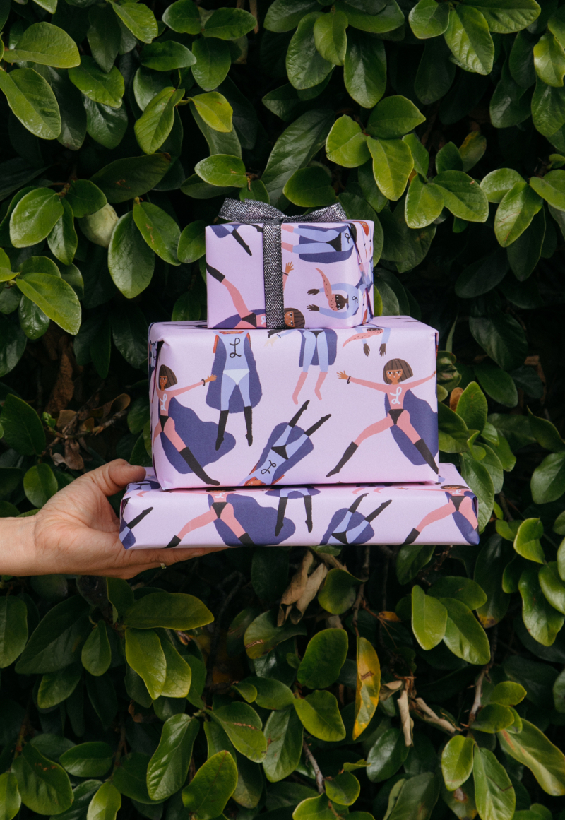 Super Ladies Gift Wrap / Carolyn Suzuki in the Oh Joy! Shop