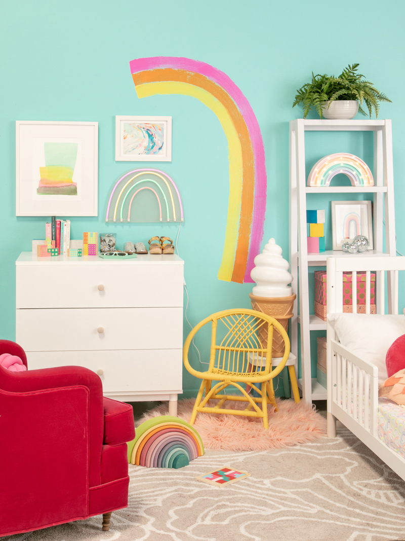 A Very Rainbow Kid's Room / via Oh Joy!