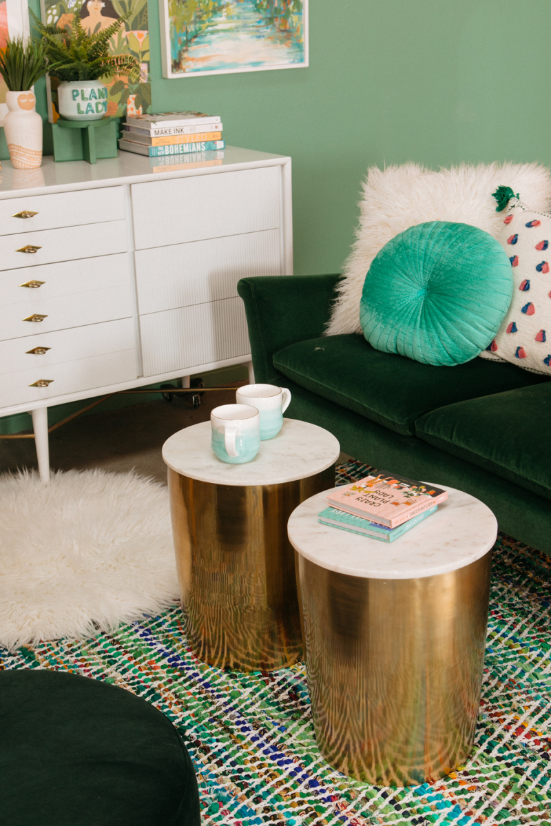 Color Adventures: A Green Living Room / via Oh Joy!