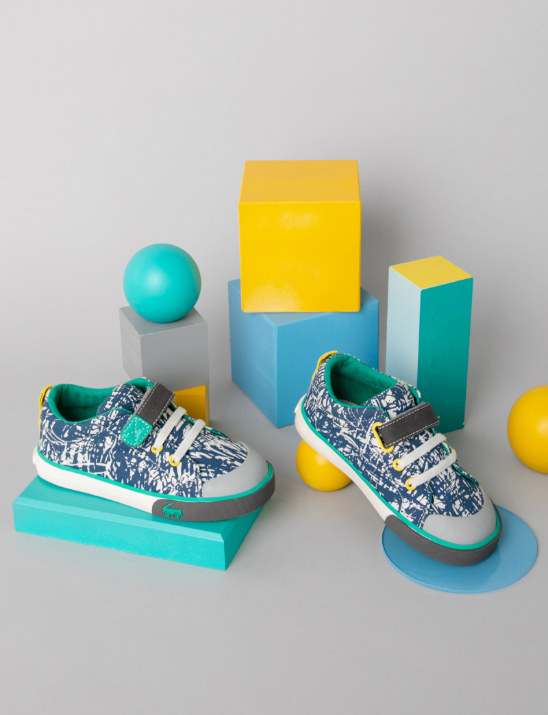 Oh Joy! for See Kai Run Blue Skipping Sketch Sneaker