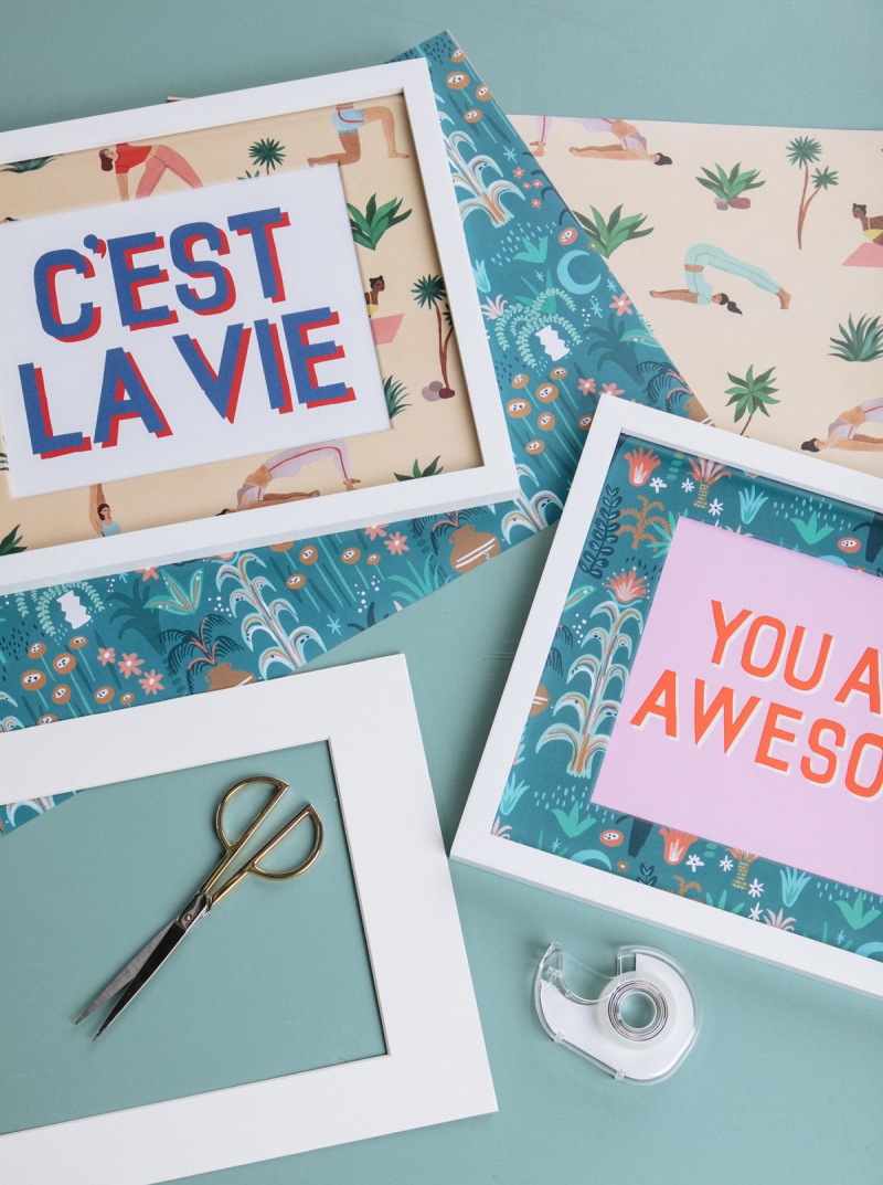 How to Make Wrapping Paper Photo mats... / via Oh Joy!