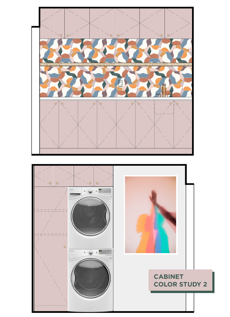 Oh Joy! Builds a House: The Laundry Room! // Cabinet Color Study 2 / via Oh Joy!