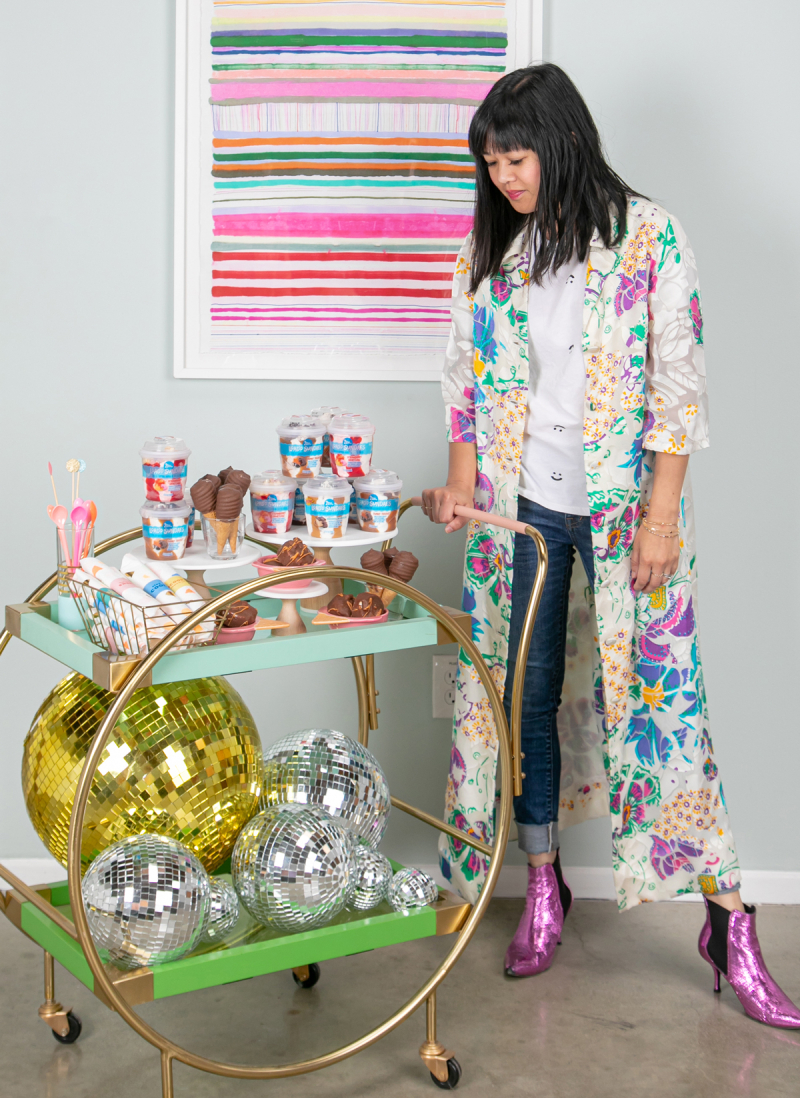 There's No Party Like A (Pop-Up) Ice Cream Party... / via Oh Joy! in partnership with Blue Bunny