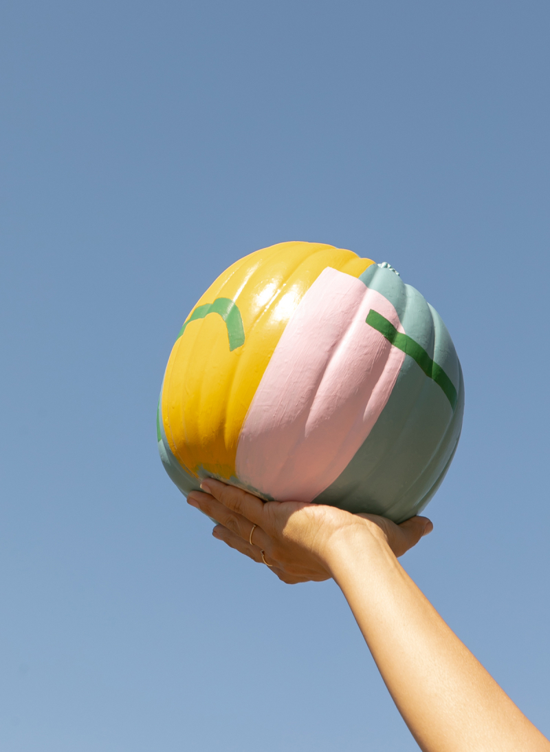 art deco painted pumpkins... / via oh joy!