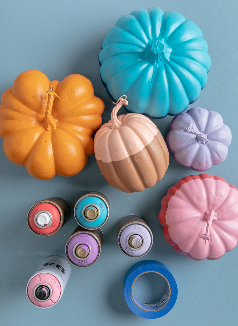 painted color-block pumpkins... / via oh joy!
