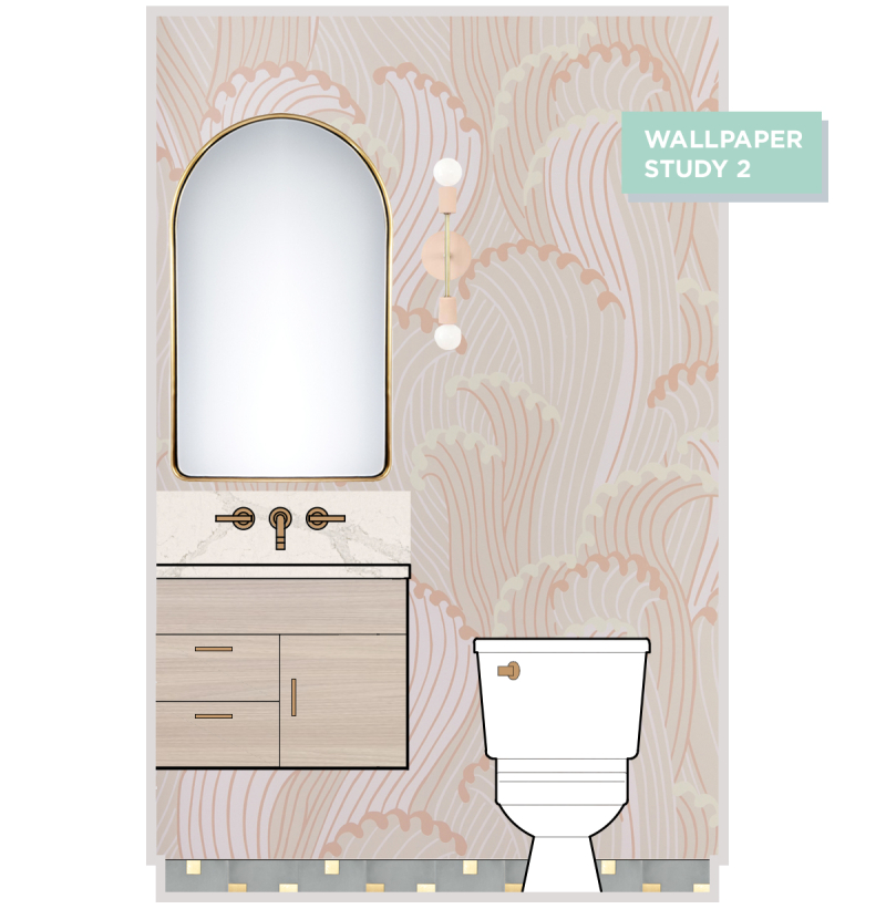 Oh Joy! Builds A House: Vintage-Inspired Powder Room! / Wallpaper Study 2