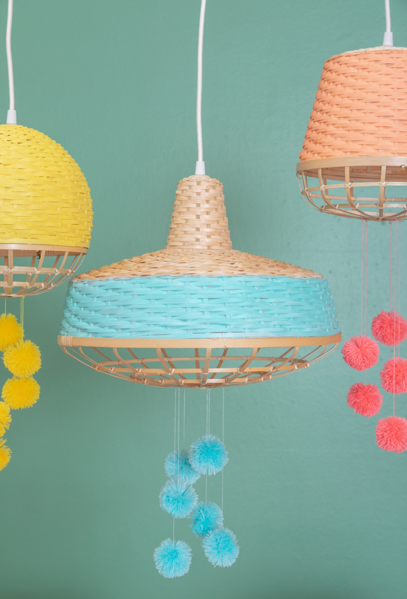 Spruce Up Hanging Lights with this Fun DIY! / via Oh Joy!
