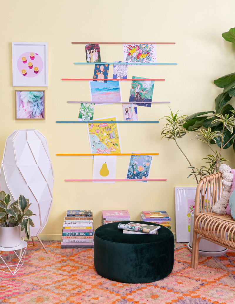 Make Your Own Colorful Photo Display / via Oh Joy!