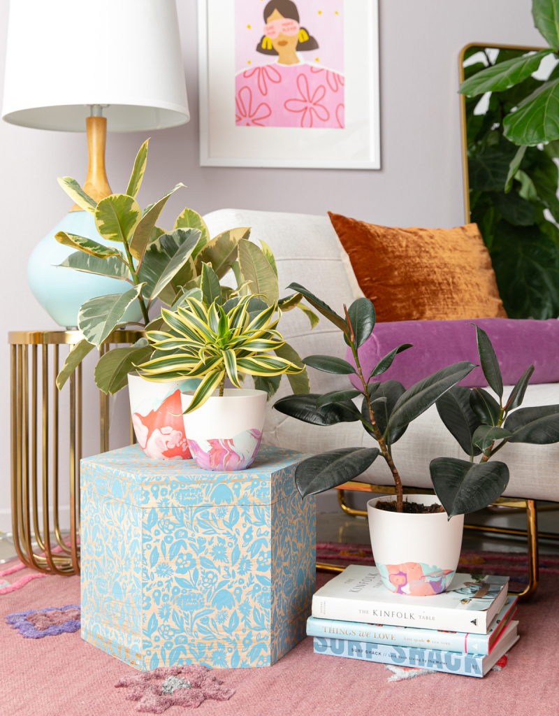 how to make a marbled planter... / via oh joy!