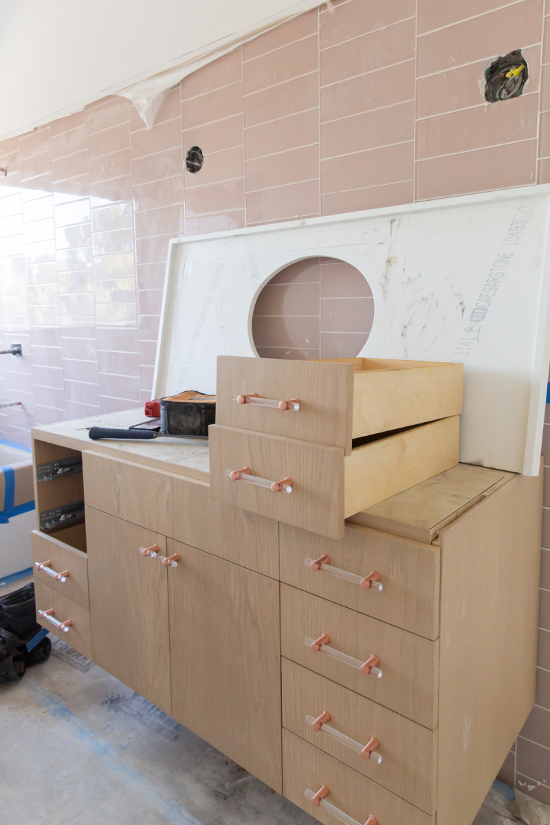 oh joy builds a house update: cabinets!