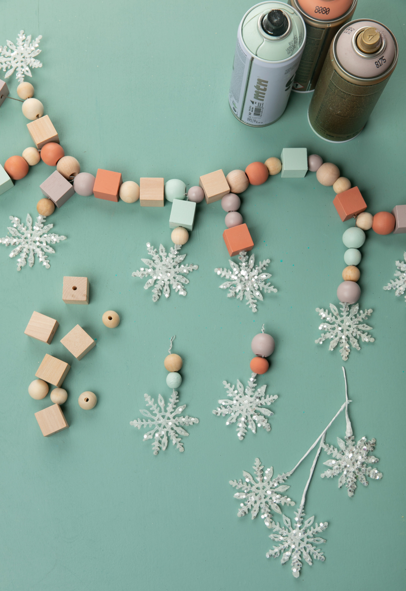 a snowflake garland diy... / via oh joy!