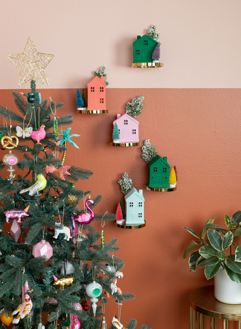 a vertical village for the holidays... / via oh joy!