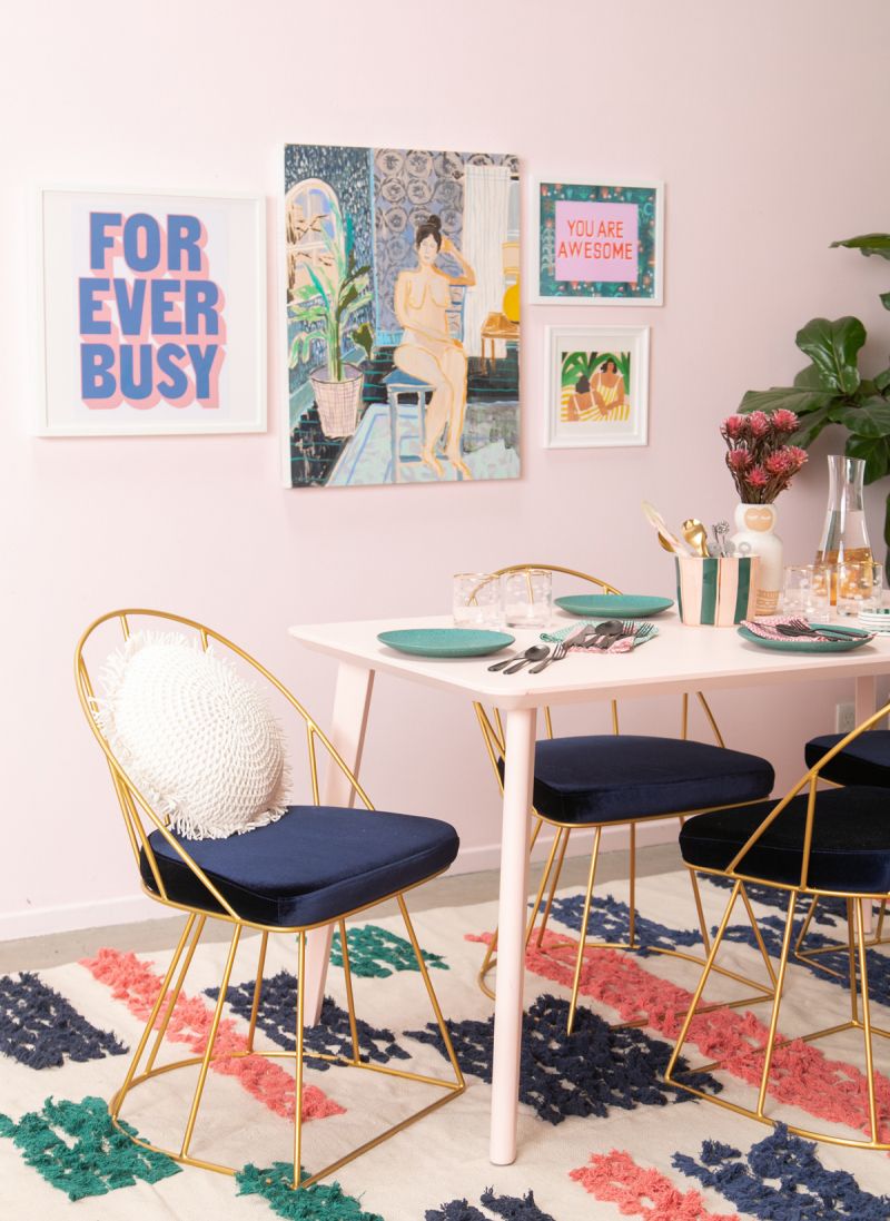 styling with a rug in your dining room / via oh joy!