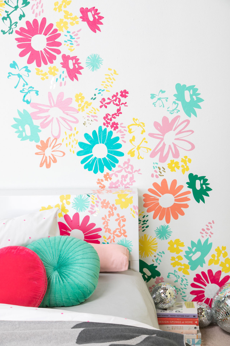 A DIY Floral headboard... / via Oh Joy! in partnership with Cricut