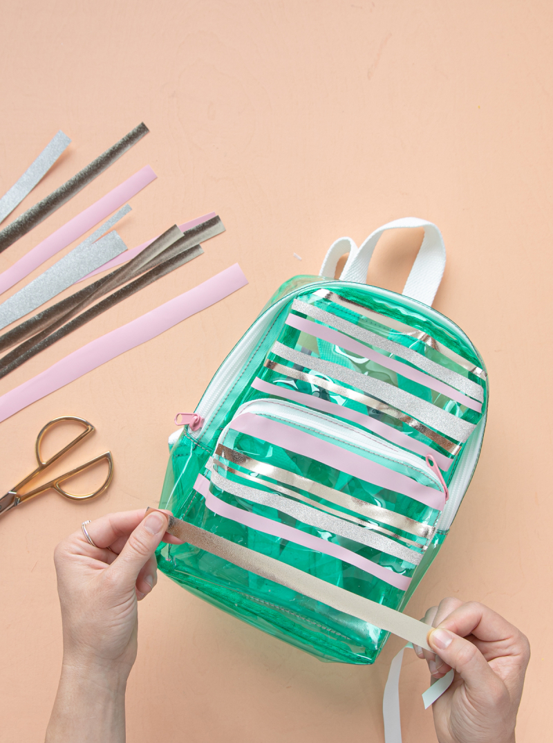 a cool vinyl backpack diy... / via oh joy!