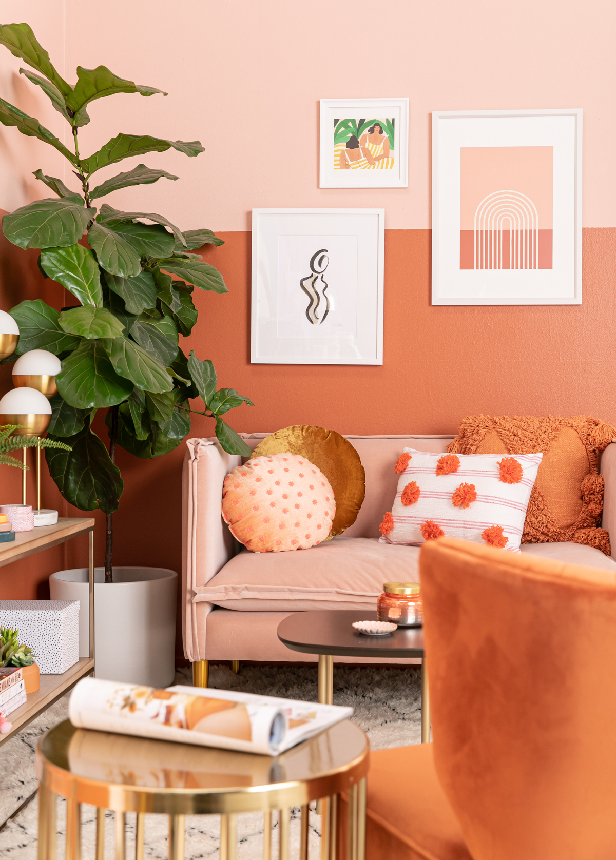 color adventures: an orange-inspired living room! - Oh Joy!
