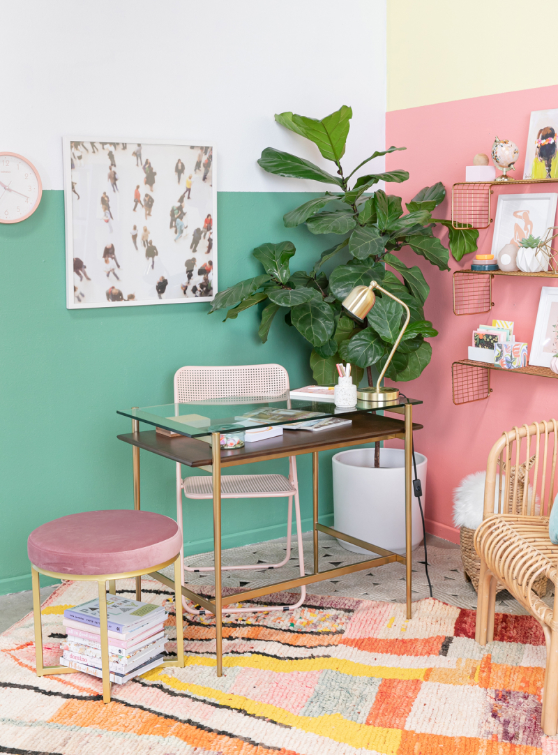 Setting Up a Home Office in a Small Space...  / via Oh Joy!