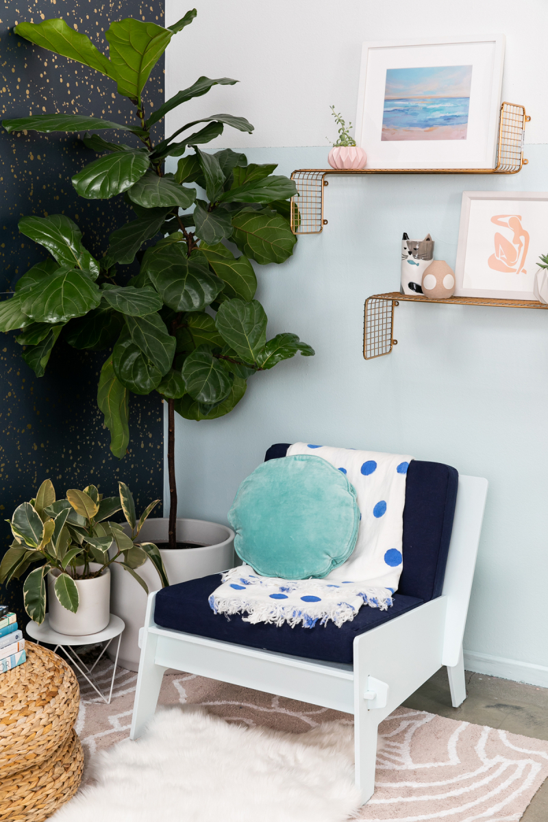 Color Adventures: A Blue Seating Area... / via Oh Joy!