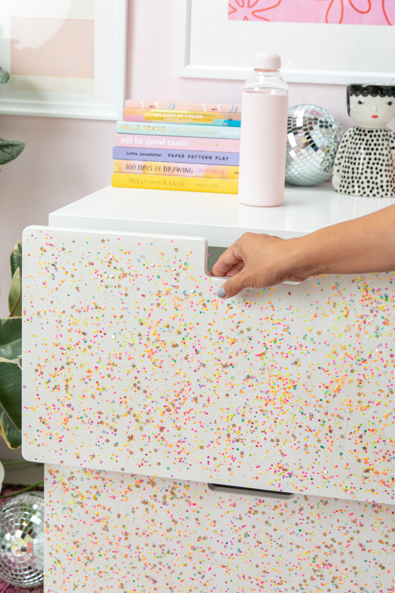 Glitter Drawer DIY / via Oh Joy!