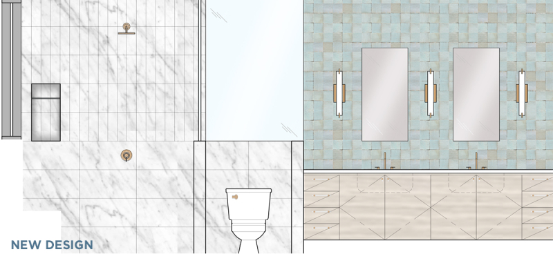 oh joy builds a house: our master bathroom (and the changes we made halfway through)! / via oh joy! // new design