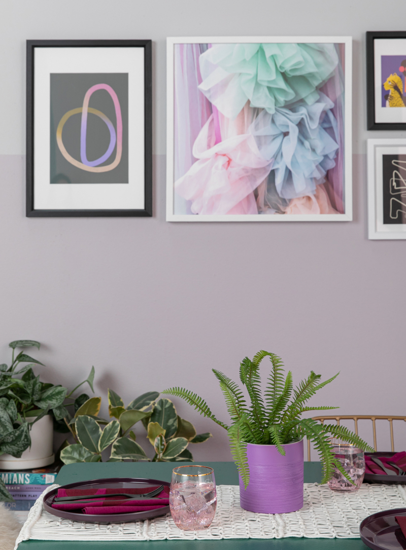 color adventures: a purple dining room! / via oh joy!