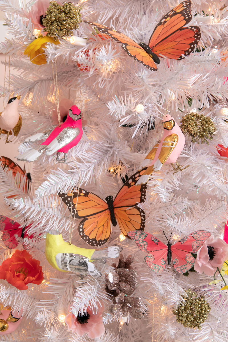 a festive flora and fauna Christmas tree... / via oh joy!