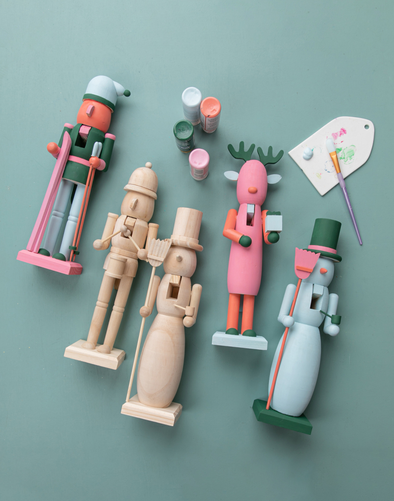 a painted nutcracker diy... / via oh joy!