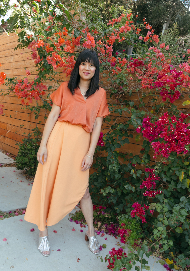 color adventures: oh joy wears orange!