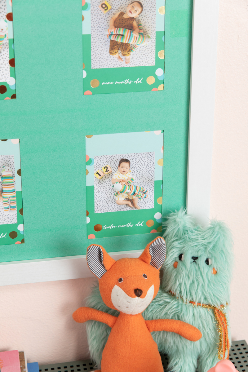 make a poster of your monthly baby photos!