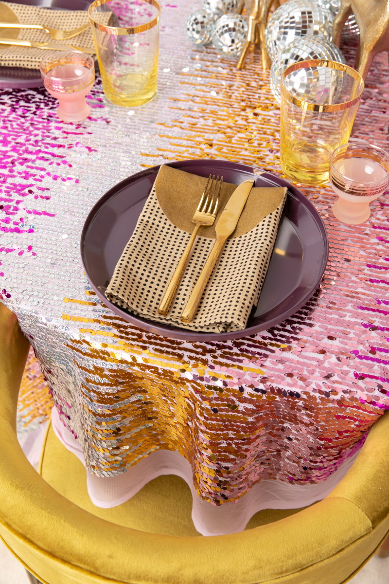 a sparkly table for new year's... / via oh joy!