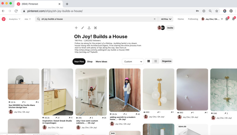 Pinterest Board Oh Joy Builds A House