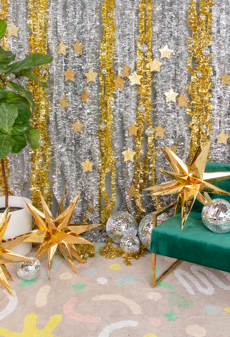 Oh Joy! Silver and Gold Glitter Backdrop