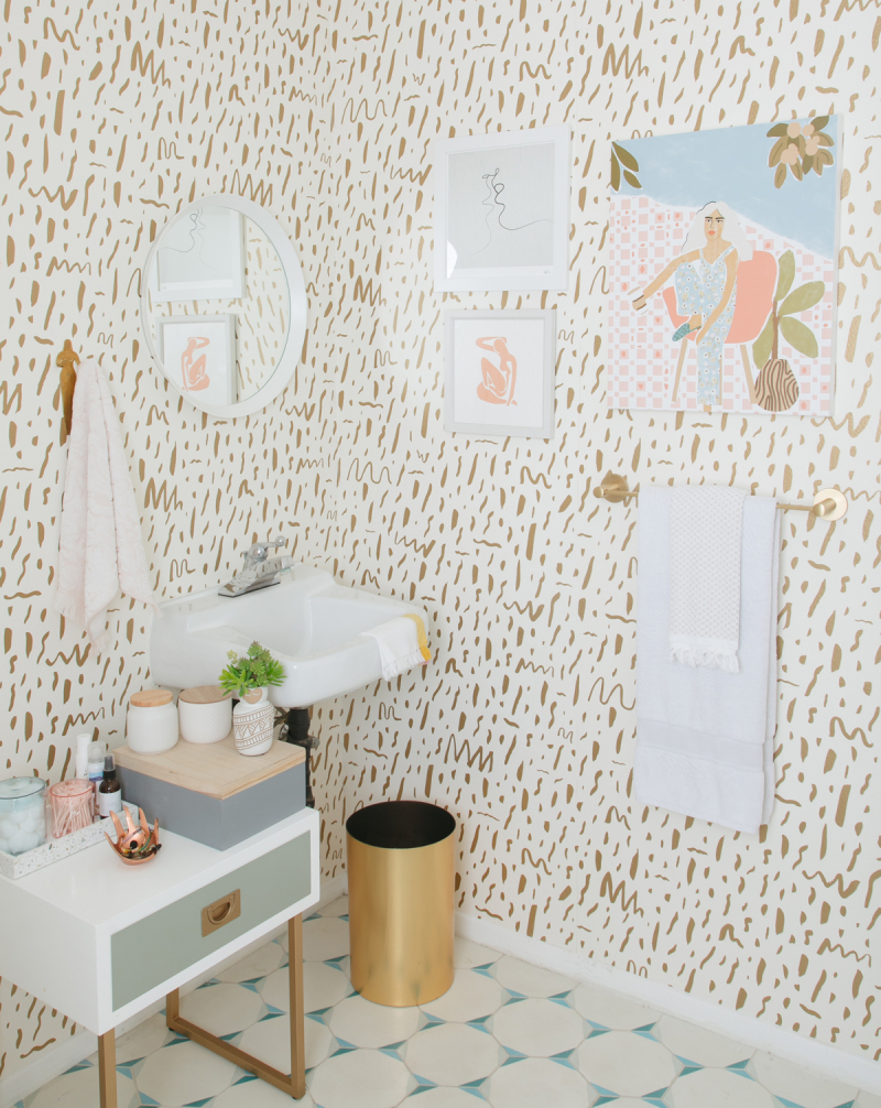 my executive office bathroom at oh joy: final reveal! / via oh joy!