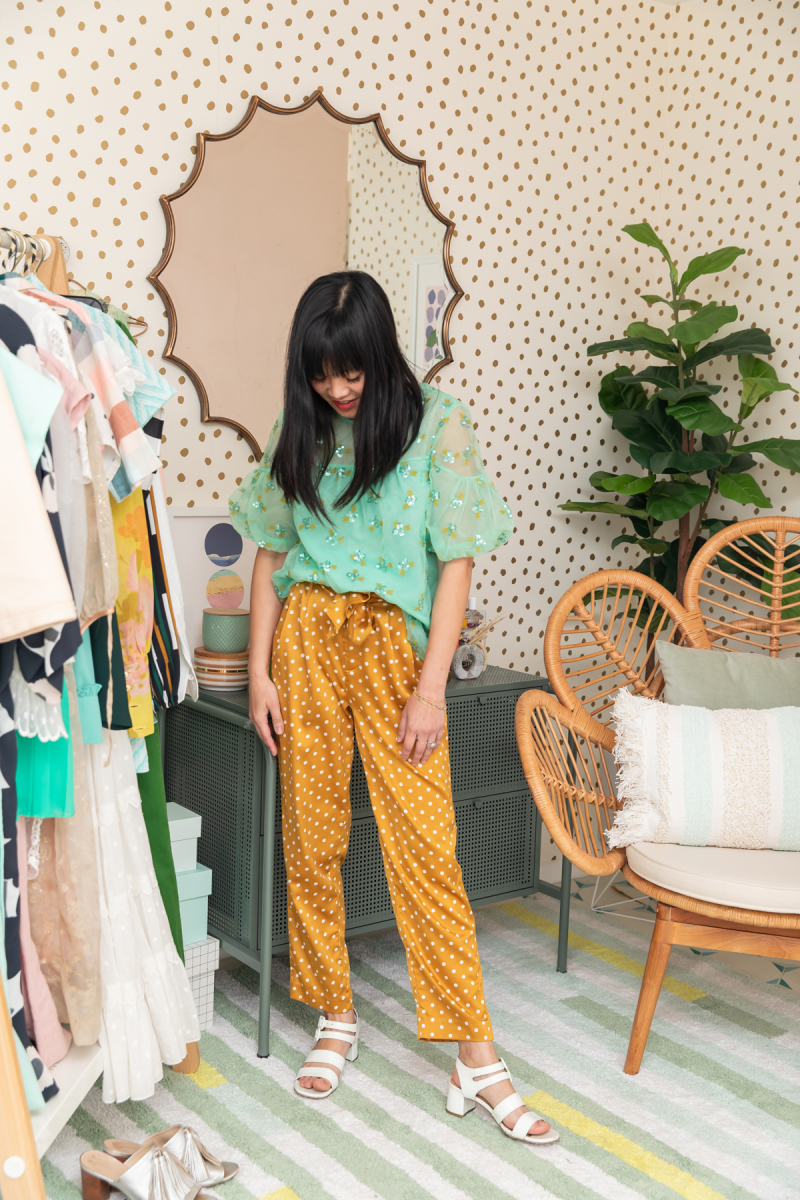 color adventures: oh joy wears mint and dots
