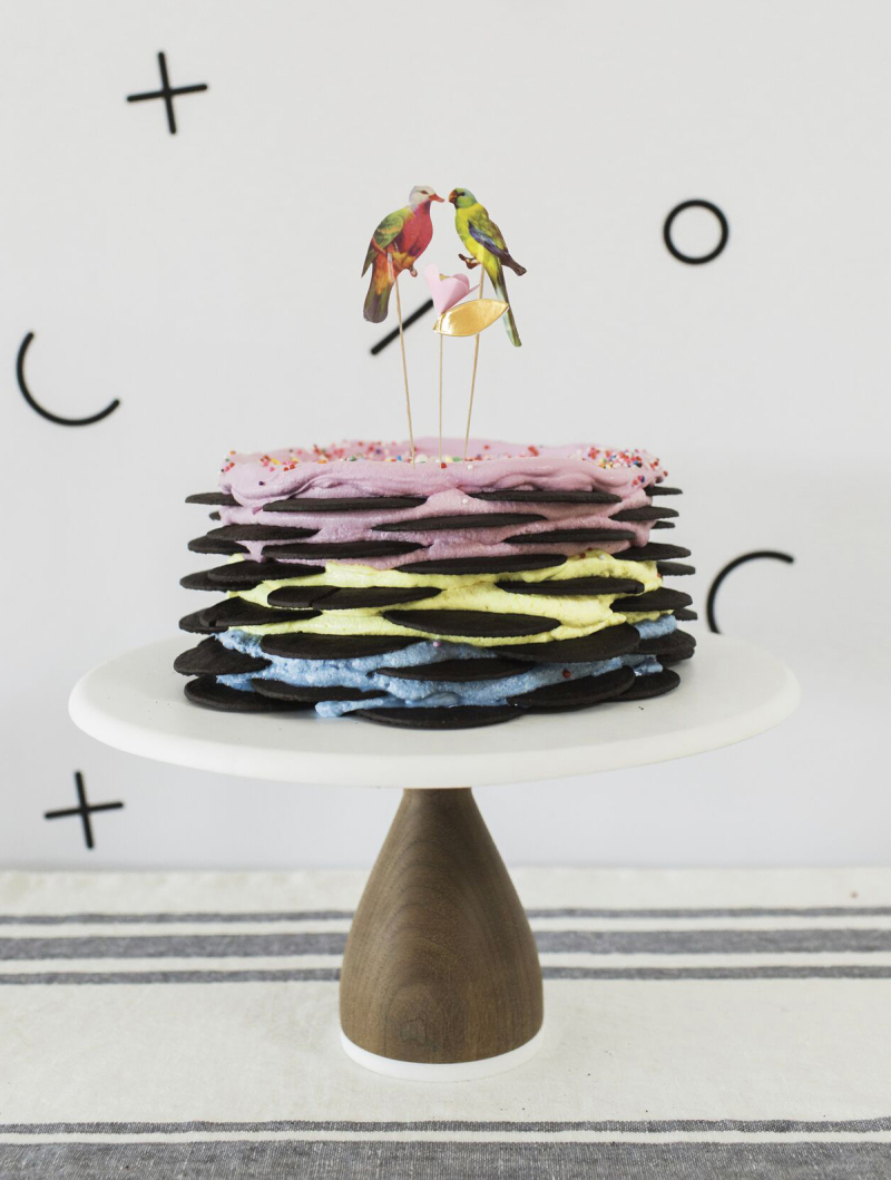 Oh Joy and Molly Yeh Rainbow Icebox Cake