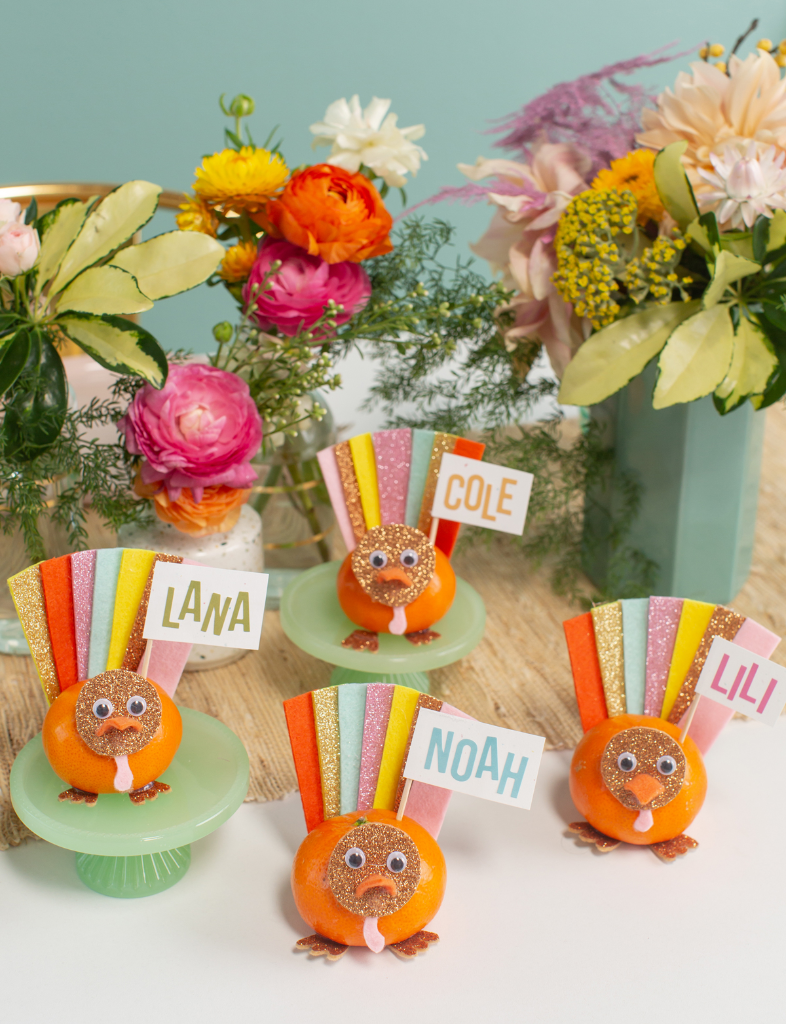 Oh Joy Orange Turkey Place Cards