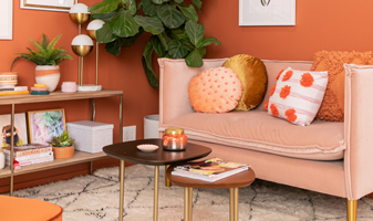 An Orange-Inspired Living Room...