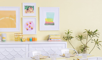 Color Adventures: A Mellow Yellow Dining Room...