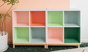One Color-Block Bookcase, Styled Two Ways!